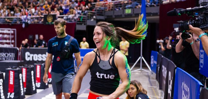 Justine Beath at the 2018 CrossFit Pacific Regional. Photo courtesy of CrossFit Inc.