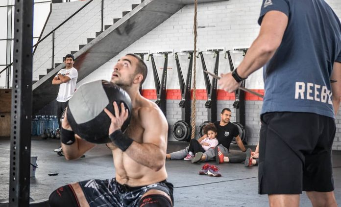 Lazar Dukic Serbia) during 19.1 of the CrossFit Open. Photo via Instagram, @lazadjukic