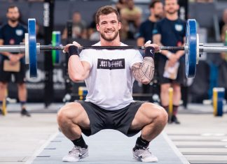 Willy Georges at the 2018 CrossFit Meridian Regional. Photo courtesy of CrossFit Inc.