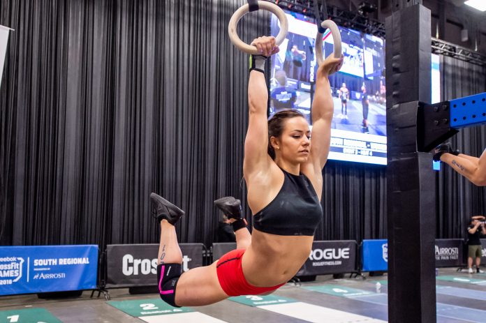 Camille Leblanc-Bazinet at the 2018 CrossFit Games South Regional. Photo courtesy of CrossFit Inc.