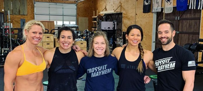 Chyna Cho in Cookeville, TN, to train with the CrossFit Mayhem crew. Photo via Instagram, @chynacho