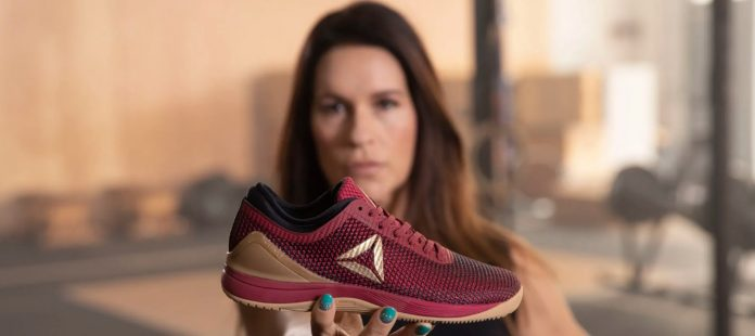 Jen Welter with the new Reebok Nano Everyday Heroes colorway.