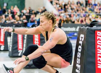 Tennil Beuerlein competing at the 2018 CrossFit Games South Regional. Photo courtesy of CrossFit Inc.