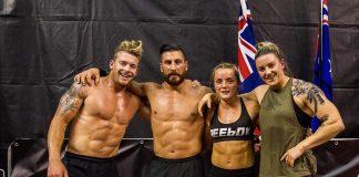 James Newbury, Rob Forte, Maddie Sturt and Kate Gordon of X-Terminators at the 2019 Down Under CrossFit Championship. Photo via Instagram, @rob_forte