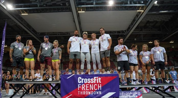 Elite team podium at the 2019 CrossFit French Throwdown. Photo courtesy of @wodandpix/Instagram