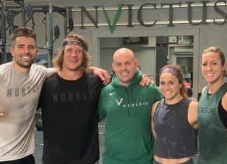Holden Rethwill, Sam Dancer, Kristi Eramo and Margaux Alvarez of Invictus X. Photo via Instagram, @samdancing