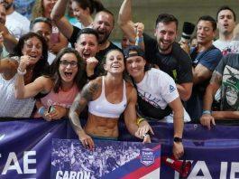 Sabrina Caron at the 2019 CrossFit French Throwdown. Photo courtesy of @wodandpix/Instagram