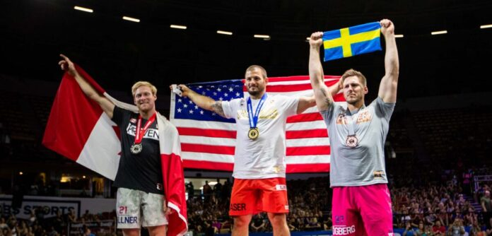 2018 CrossFit Games mens podium. Photo courtesy of CrossFit Inc.