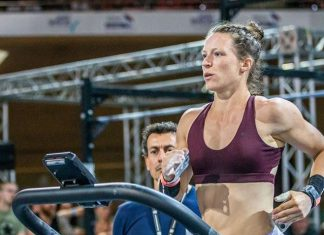 Anna Viggedal at the 2019 CrossFit French Throwdown. Photo via Instagram, @anna_vig