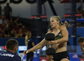 Thuri Helgadottir at the 2019 CrossFit Games.