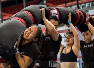 Team competing at the 2019 Asia CrossFit Championship.