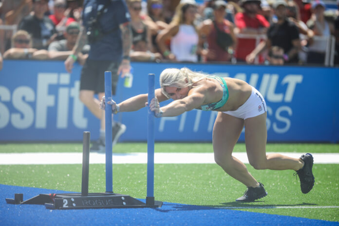 Colleen Fotsch during the Sprint Couplet at the 2019 CrossFit Games.