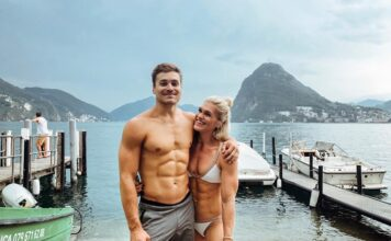 Streat Hoerner and Katrin Davidsdottir in Switzerland. Photo via Instagram/@katrintanja