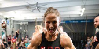 Kari Pearce at the Wodapalooza Online Qualifier WOD 1 announcement.