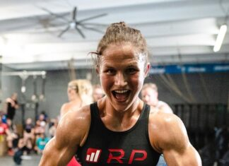 Kari Pearce at the Wodapalooza Online Qualifier WOD 1 announcement.