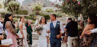 Mia Akerlund and Phil Hesketh get married in Mallorca. Photo via Instagram/@billiemedia