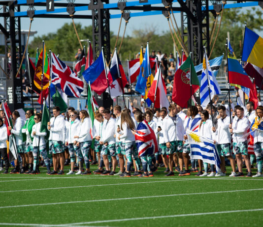 Opening Ceremony at the 2019 CrossFit Games.