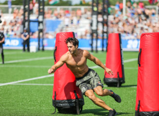 Alec Smith at the 2019 CrossFit Games.