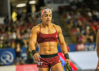 Anna Fragkou at the 2019 CrossFit Games.