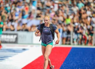 Annie Thorisdottir at the 2019 CrossFit Games.