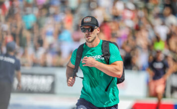Lukas Hogberg at the 2019 CrossFit Games.