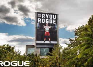 Tia-Clair Toomey on Rogue HQ Billboard in Columbus, OH
