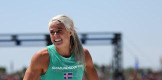 Sara Sigmundsdottir at the 2019 CrossFit Games.