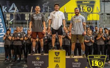 Men's podium at the 2019 CrossFit Filthy 150.