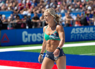 Jessica Griffith at the 2019 CrossFit Games.