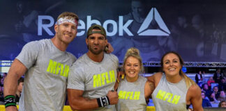 ROMWOD MeatSquad (left to right: Dex Hopkins, Christian Harris, Brooke Haas, Kelly Baker)