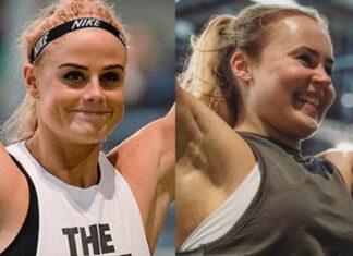 Sara Sigmundsdottir & Andrea Solberg at the 2019 CrossFit Filthy 150