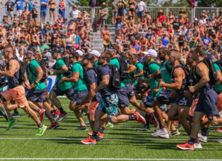 Ruck Run at the 2019 CrossFit Games.